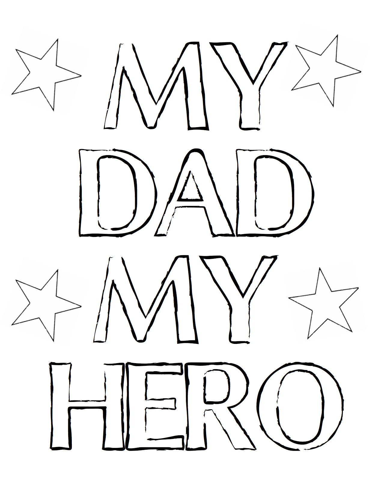Free Coloring Pages Of I Love You Dad